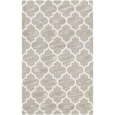 Lissette Hand-Woven Gray/Ivory Area Rug Rug Size: Rectangle 52 x 74