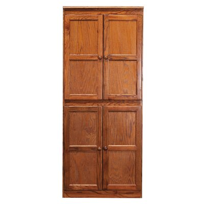 Kesterson 4 Door Storage Cabinet Finish: Dry Oak