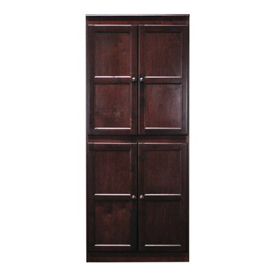 Kesterson 4 Door Storage Cabinet Finish: Cherry