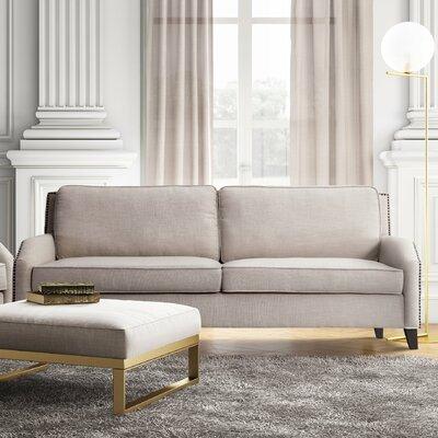 Hanriette Linen Sofa Upholstery: Beige