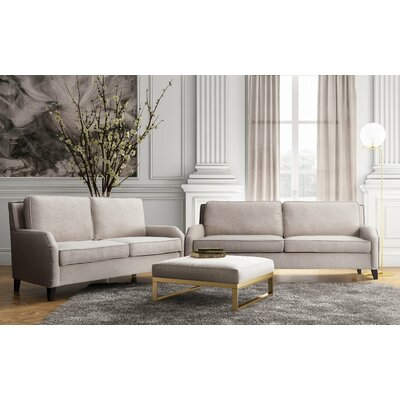 Wickliffe Linen Living Room Set (Set of 2) Upholstery: Beige