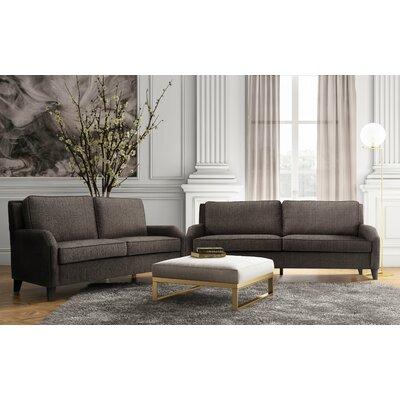 Wickliffe Linen Living Room Set (Set of 2) Upholstery: Grey