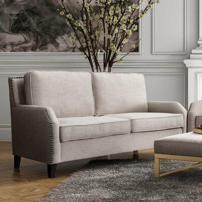 Hanriette Linen Loveseat Upholstery: Beige