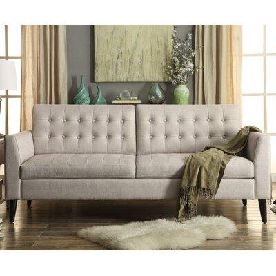 Starner Tufted Sofa Upholstery: Beige