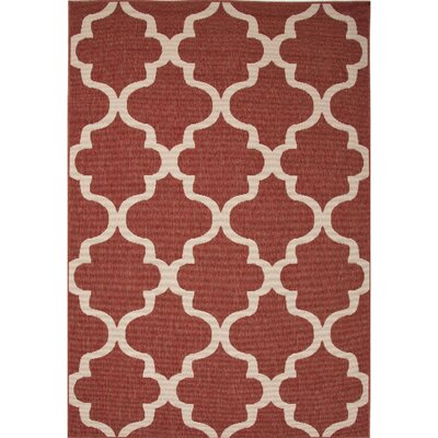 Williamsburg Red/Ivory Indoor/Outdoor Area Rug Rug Size: Rectangle 4 x 53