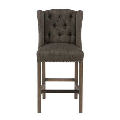 Bluebird 26.5  Bar Stool Upholstery: Gray