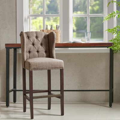 Bluebird 30� Bar Stool with Cushion Finish: Taupe