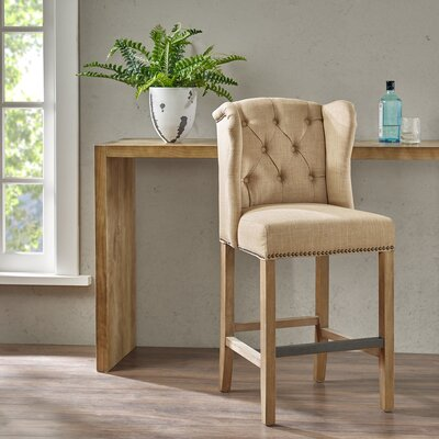 Bluebird 21  inch Bar Stool with Cushion Upholstery: Sand