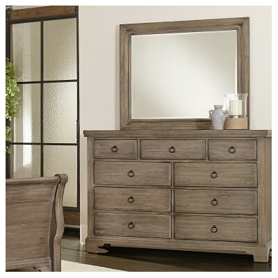 Brookhill 9 Drawer Dresser with Mirror