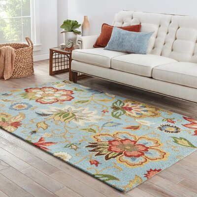 Gradall Floral Blue Area Rug Rug Size: Rectangle 8 x 10