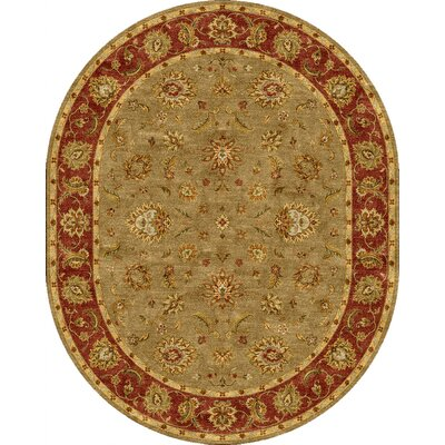 Grady Green/Red Area Rug Rug Size: 8 x 10