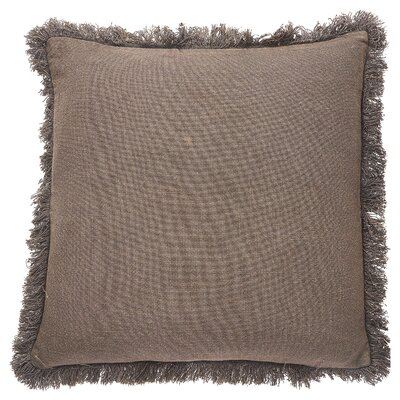Graham Cotton Throw Pillow Color: Graystone