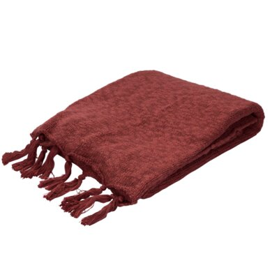 Grassmere Cotton Throw Color: Red