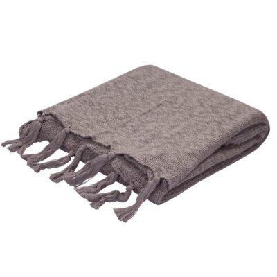 Grassmere Cotton Throw Color: Grey
