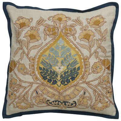 Greenmeadow Damask Pattern Cotton Throw Pillow