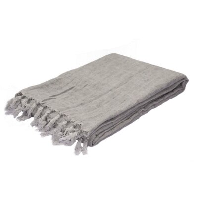 Greenmont Linen Throw Color: Grey