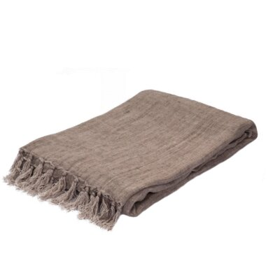 Greenmont Linen Throw Color: Aluminum