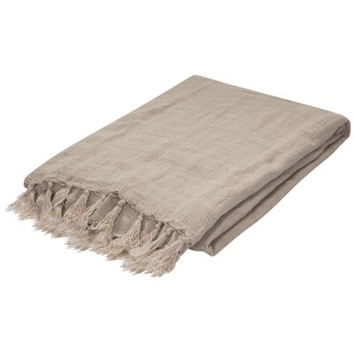 Greenmont Linen Throw Color: Natural