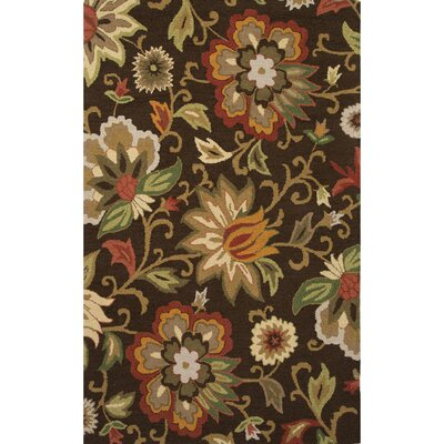 Gradall Hand-Tufted Brown/Red Area Rug