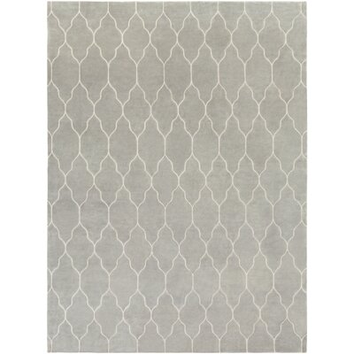 Moreton Hand-Knotted Neutral Area Rug Rug Size: 8 x 11