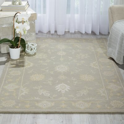 Ridgeville Hand-Tufted Light Taupe Area Rug Rug Size: 39 x 59
