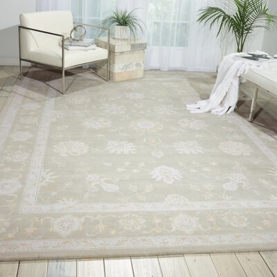 Ridgeville Hand-Tufted Beige Area Rug Rug Size: Rectangle 56 x 75