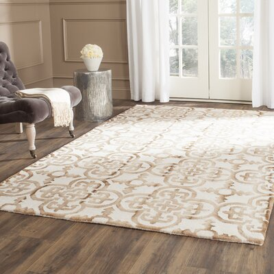 Naples Park Hand-Tufted Ivory & Camel Area Rug Rug Size: Rectangle 6 x 9