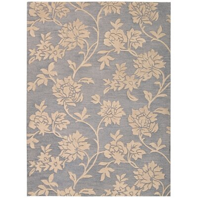 Harper Hand-Tufted Blue/Beige Area Rug Rug Size: Rectangle 8 x 11