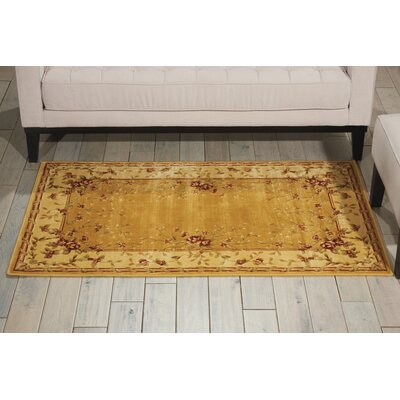 Bellock Hand-Tufted Gold Area Rug