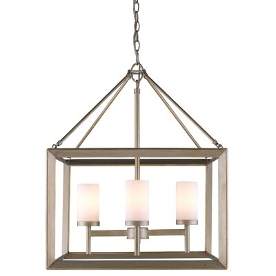 Coxsackie 4-Light Glass Shade Foyer Pendant