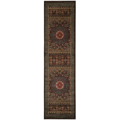 Alto Blue/Red Area Rug Rug Size: Runner 22 x 8