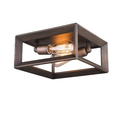 Ginsberg 2-Light Flush Mount Finish: Gunmetal Bronze