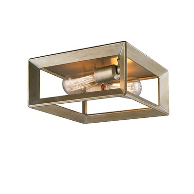 Ginsberg 2-Light Flush Mount Finish: White Gold