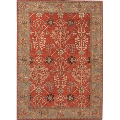 Gwendoline Chambery Orange Rust & Gold Brown Area Rug Rug Size: 96 x 136