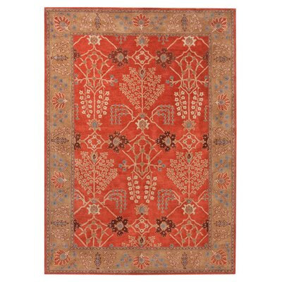 Gwendoline Chambery Orange Rust & Gold Brown Area Rug Rug Size: 2 x 3