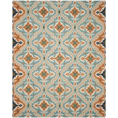 Agustine Hand-Tufted Blue/Beige/Brown Area Rug Rug Size: 8 x 10