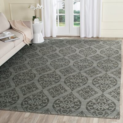 Jacobson Hand-Woven Dark Gray Area Rug Rug Size: Rectangle 8 x 10