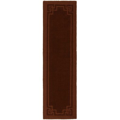Deco Tufted-Hand-Loomed Red/Brown Area Rug Rug Size: Runner 23 x 8