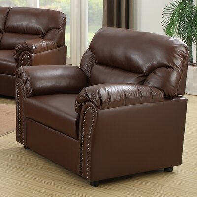 Childress Club Chair Color: Brown