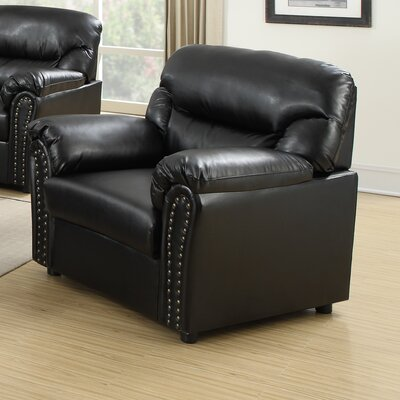Childress Club Chair Upholstery: Black