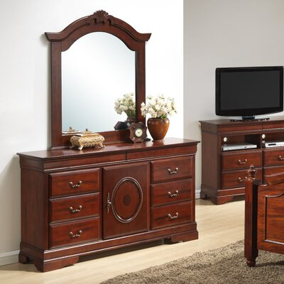 Cavender 6 Drawer Combo Dresser with Mirror