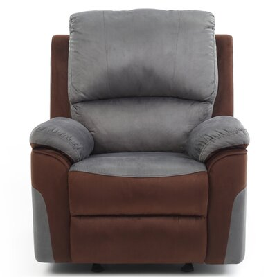 Winborne Rocker Recliner Color: Gray/Brown