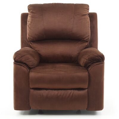Winborne Manual Rocker Recliner Color: Brown