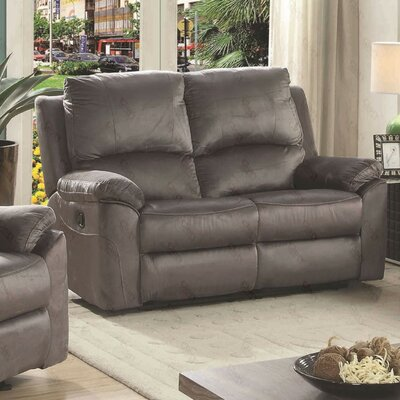 Winborne Reclining Loveseat Color: Gray