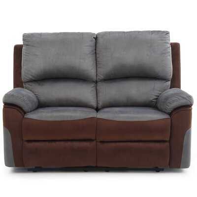 Winborne Reclining Loveseat Color: Gray/Brown