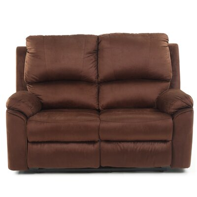 Winborne Reclining Loveseat Upholstery: Brown