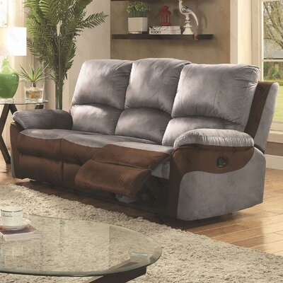 Winborne Reclining Sofa Upholstery: Gray/Brown