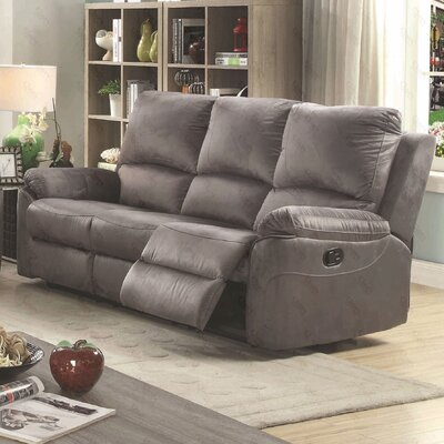 Winborne Reclining Sofa Color: Gray