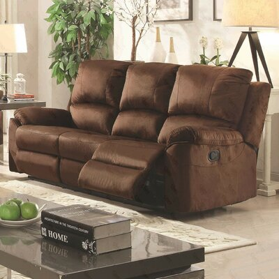 Winborne Reclining Sofa Upholstery: Brown