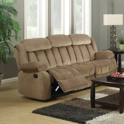 Gibsonia Reclining Sofa Color: Mocha